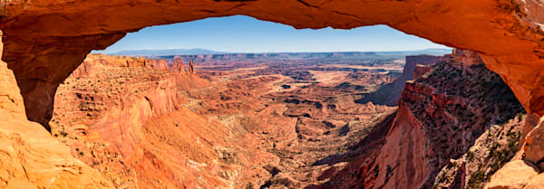 Buck Canyon through Mesa Arch photography