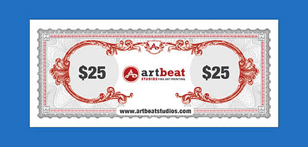 $25 Gift Card | Artbeat Studios, Inc