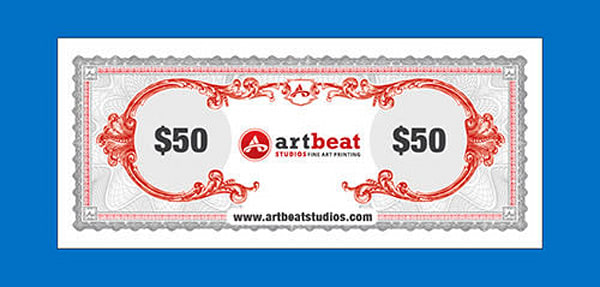 $50 Gift Card | Artbeat Studios, Inc