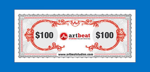 $100 Gift Card | Artbeat Studios, Inc