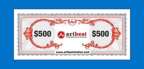 $500 Gift Card | Artbeat Studios, Inc