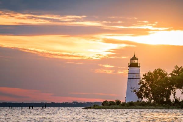 Madisonville Tchefuncte River lighthouse sunset