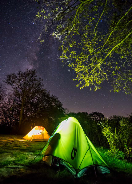 Appalachian Trail camping  Milky Way