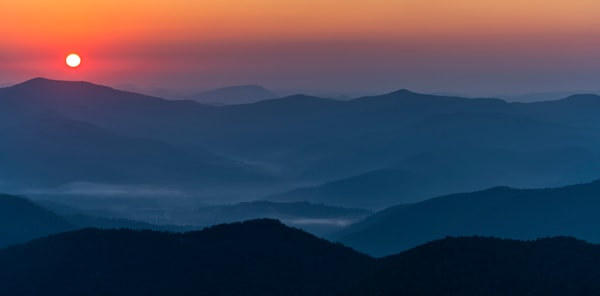 Brasstown Bald sunrise panoramic photography