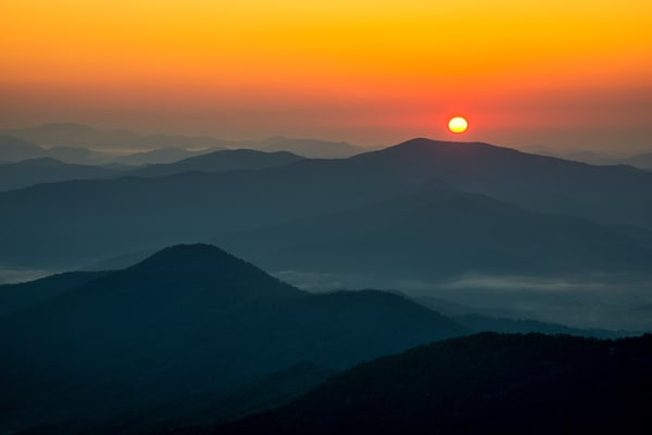 Brasstown Bald sunrise fine art photography