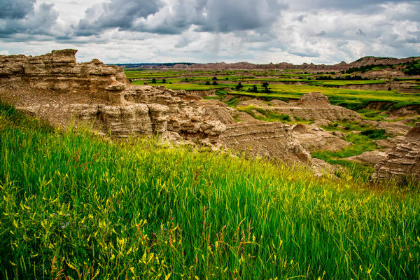 Badlands outcropping photography