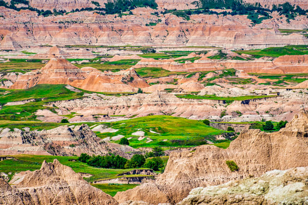 Badlands National Park overlook photography