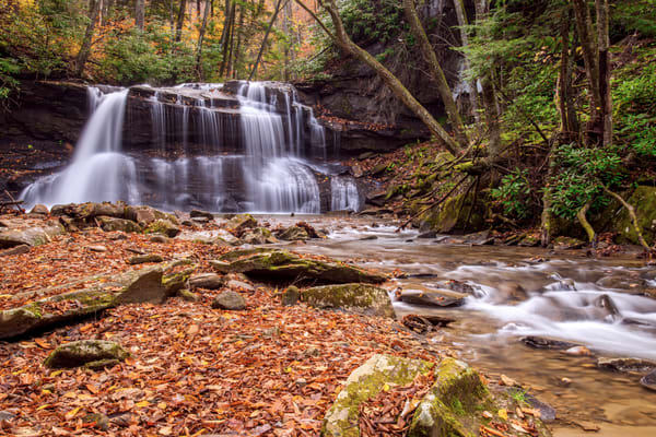 Upper Holly River waterfalls photography