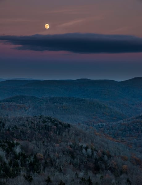 Moon Over The Monongahela National Forest