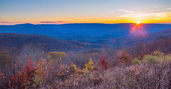 Appalachian Mountains sunset photography