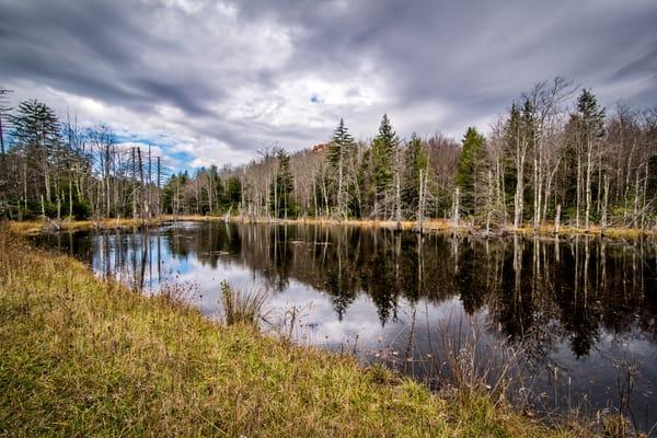 Appalachian Mountain pond photography