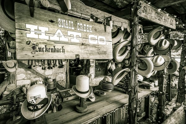Snail Creek Hat Company Luckenbach Texas photography print