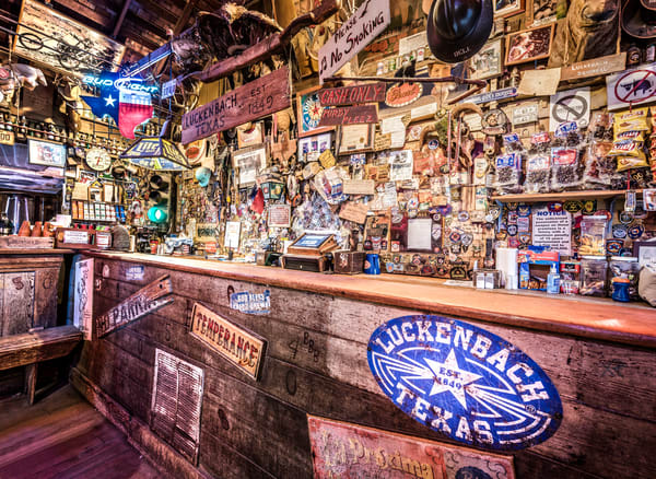 Luckenbach Texas bar photography