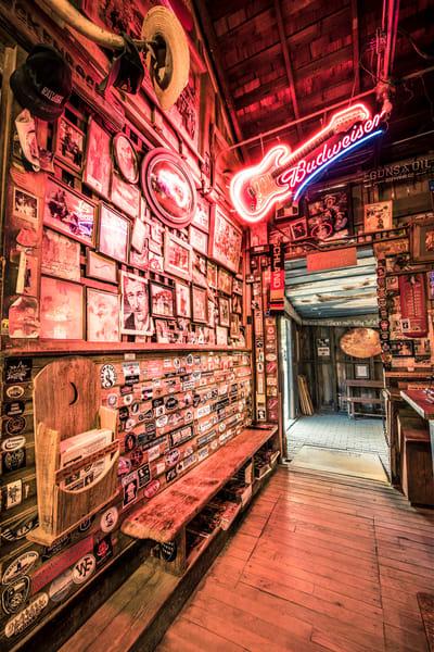 Luckenbach Texas Bar wall of fame