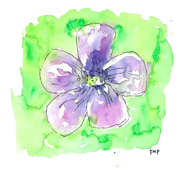 Matt Pierson Artworks | Purple Flower #2