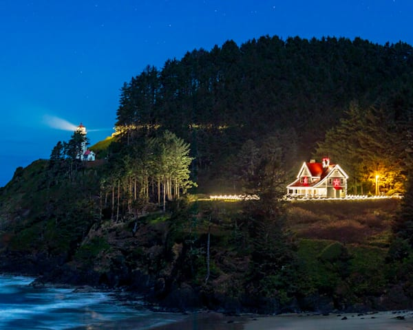 Heceta Head XMAS Lights : Florence, Oregon - By Curt Peters