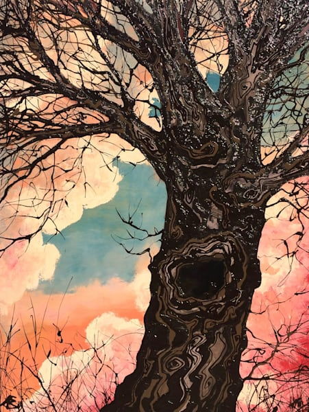 "Sublime, Original Tree Painting, ""End of Summer"""