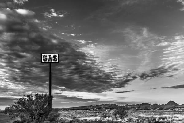 Gas sign Arizona  Sky