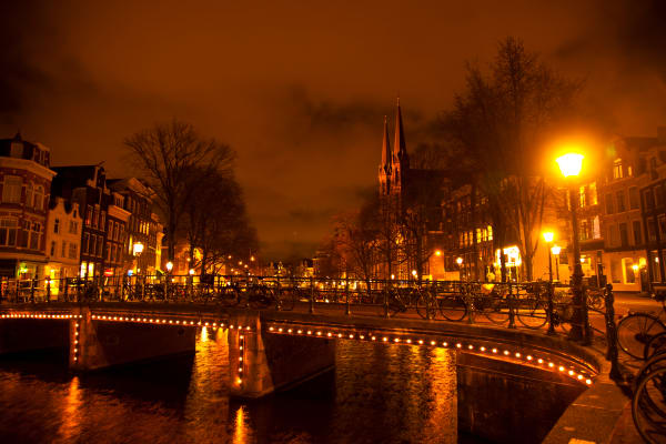 Amsterdam on a Cold Night