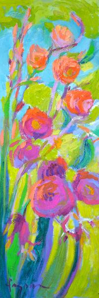 Radiant Beauty III Floral Painting Print by Dorothy Fagan