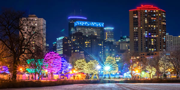 Holidazzle Lights in Minneapolis - Christmas Art | William Drew