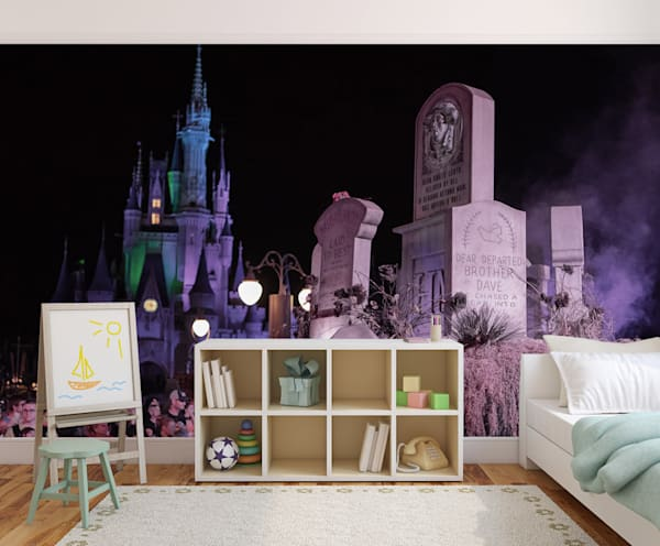 Boo To You Graveyard - Disney Wall Murals | William Drew