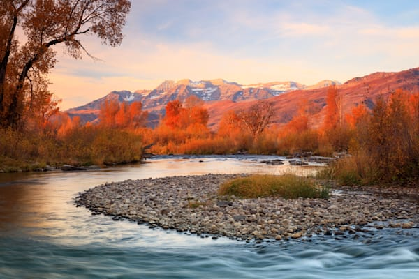 golden glow at the provo river