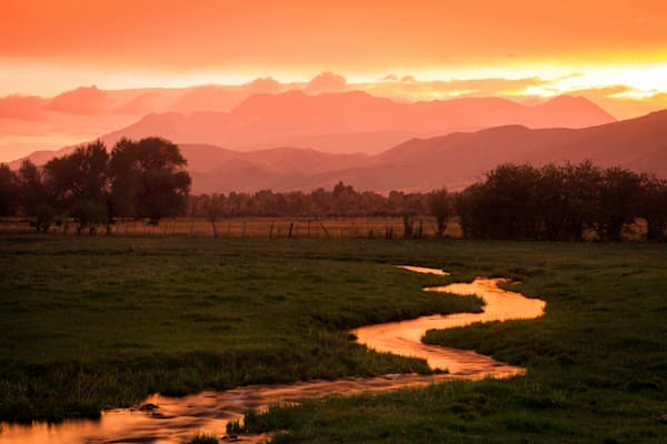 heber valley golden sunset