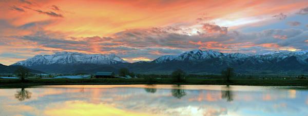 heber valley autumn sunset panorama