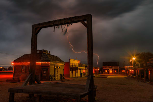lightning in old town