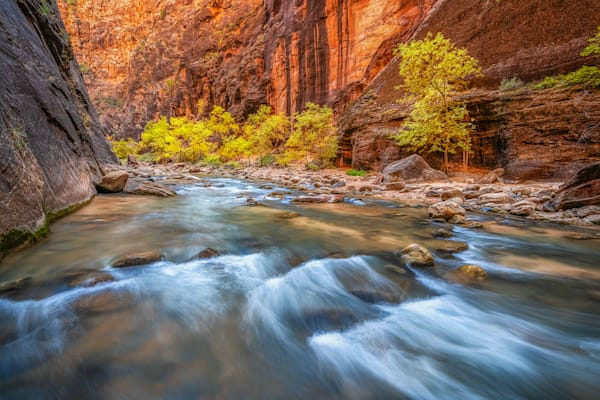 Fall in the narrows of Zion