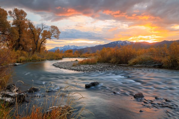 provo river golden sunset