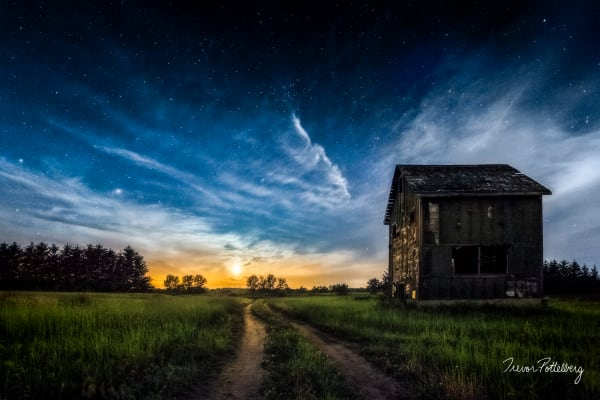 Moonset Kiln Photography Art | Trevor Pottelberg Photography