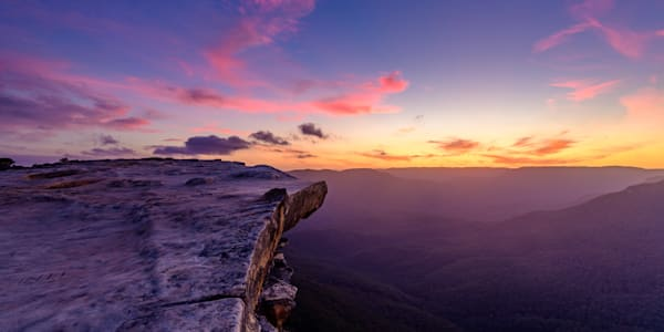 Sunset at Lincoln s Rock - Wentworth Falls Blue Mountains National Park NSW Australia