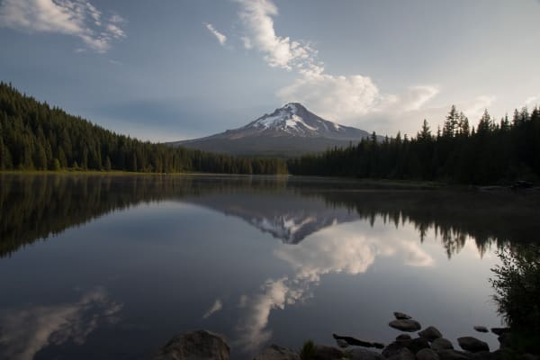 Mt. Hood Sunrise Reflection Photography Art | Leiken Photography