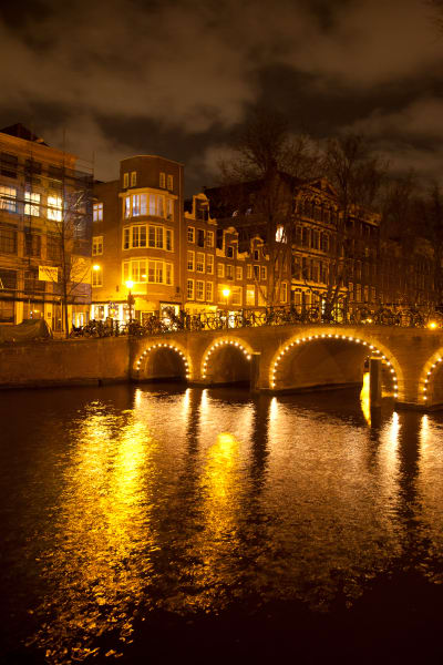 Amsterdam Bridge at Night