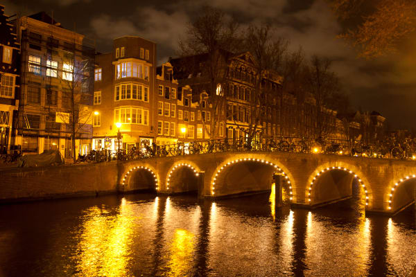 Amsterdam Bridge at Night by Shane O'Donnell