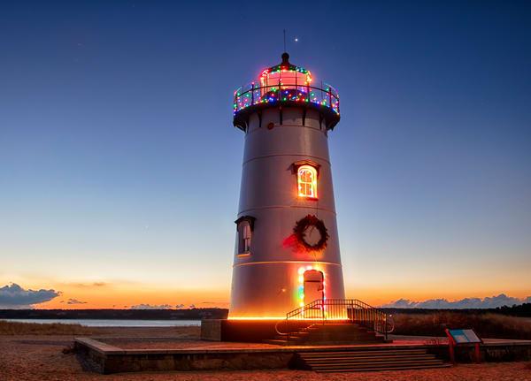 Edgartown Light Christmas Sunrise