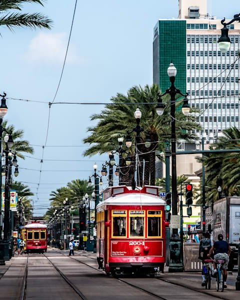 New Orleans Canal Street streetcar line photography
