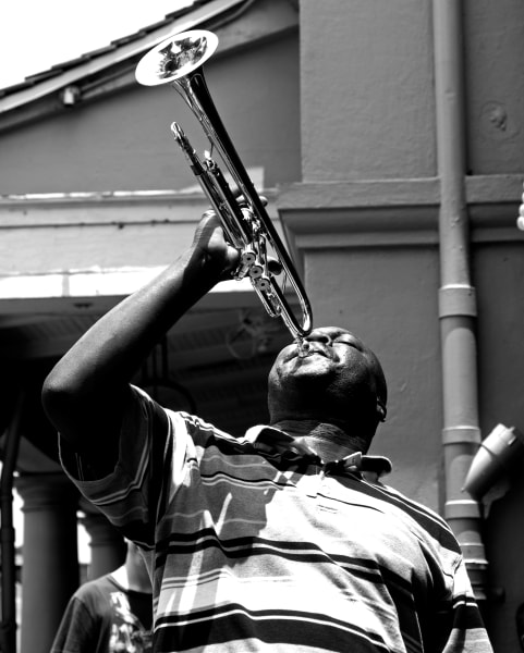 New Orleans French Quarter musician photography