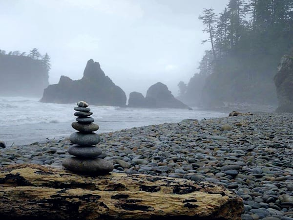 Rock Stack at Ruby Beach by Alexis King-Glandon an American photographer.