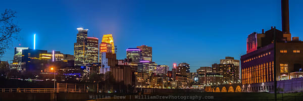 Industrial Minneapolis - Minneapolis Skyline Murals | William Drew