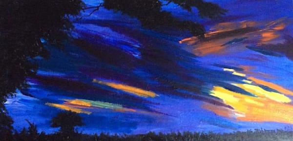 Blue Firework Sunset