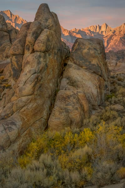 Alabama Hills Maxfield Parrish sunrise