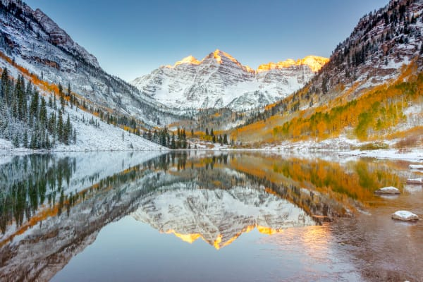 Maroon Bells Fall Colors Nature Photography Prints | Robbie George