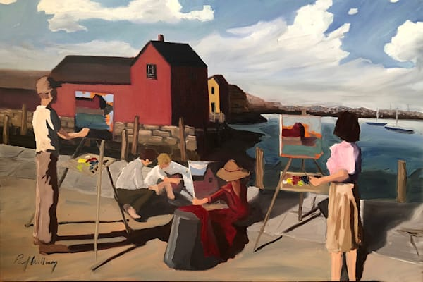 Painters at Motif Number 1 by Paul William | Fine Art for Sale