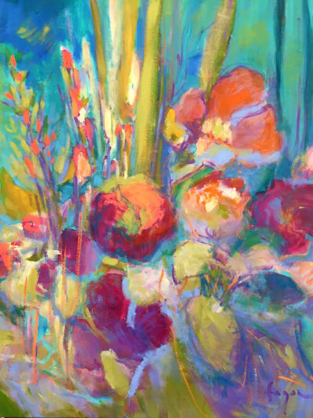 Stunning Floral Abstract Art, Something's Blooming | Original Oil Painting by Dorothy Fagan