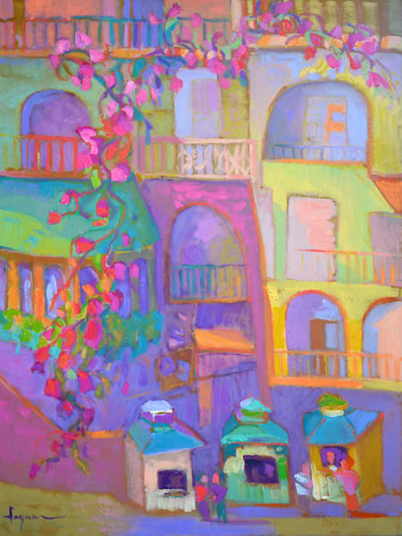 Positano Painting, Ticket to Paradise by Dorothy Fagan