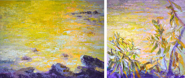 Designer Sets Colorful Landscape Art Paintings Canvas Prints