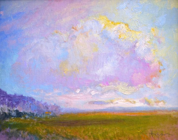 Wishing on a Cloud, Original Oil Painting by Dorothy Fagan